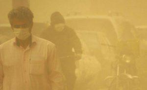 وزش باد و گرد و خاک در استان کرمان