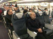 پرواز خارجی لاریجانی با سایر مسافران عادی