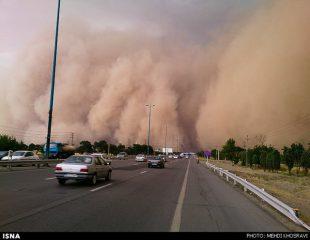 وقوع طوفان شن در شرق کرمان