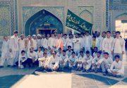 کاروان پیاده روی ۶۰ نفره جیرفت به مشهد مقدس رسید